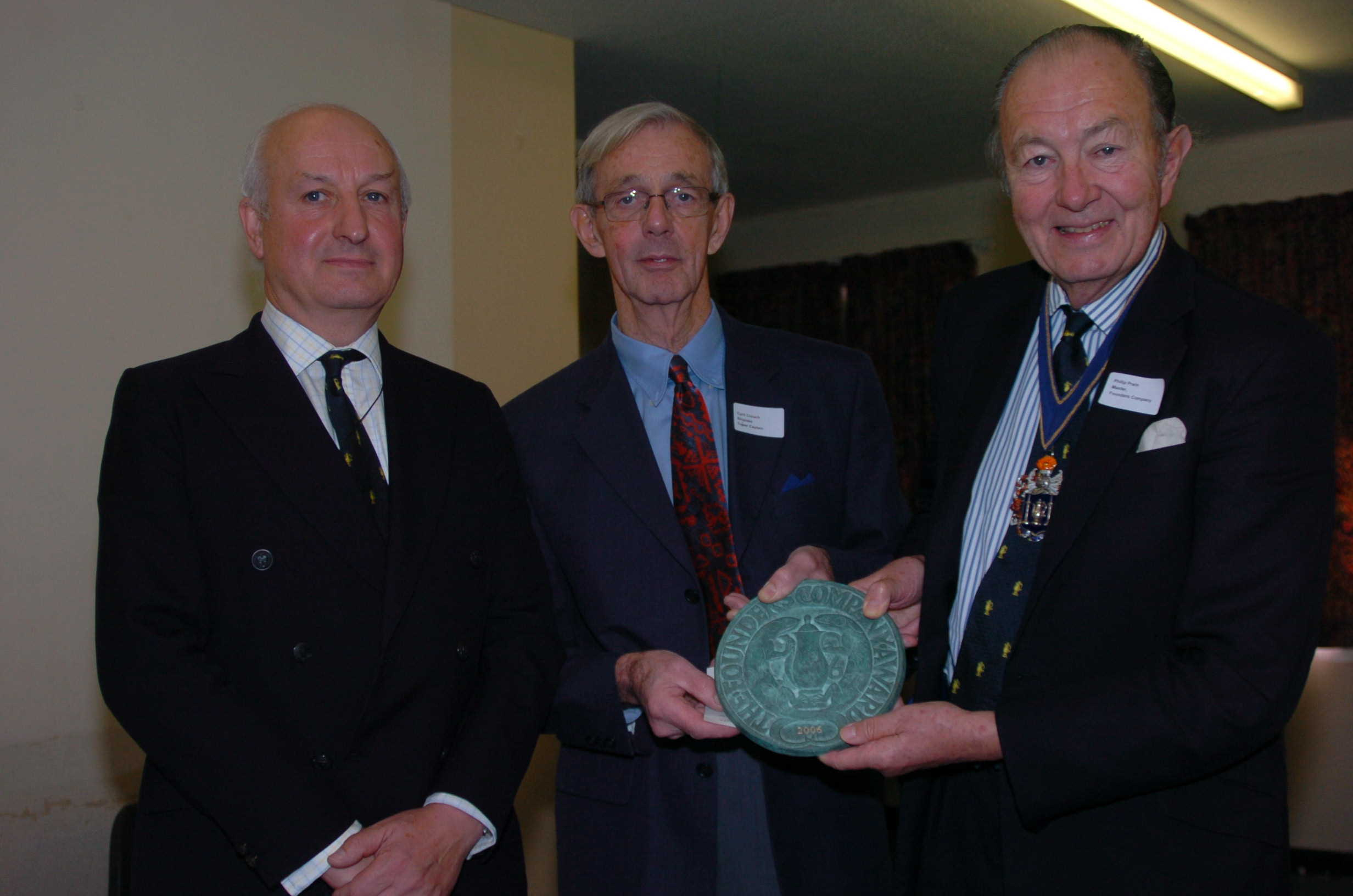 The Presentation of the plaque to Cyril Crouch